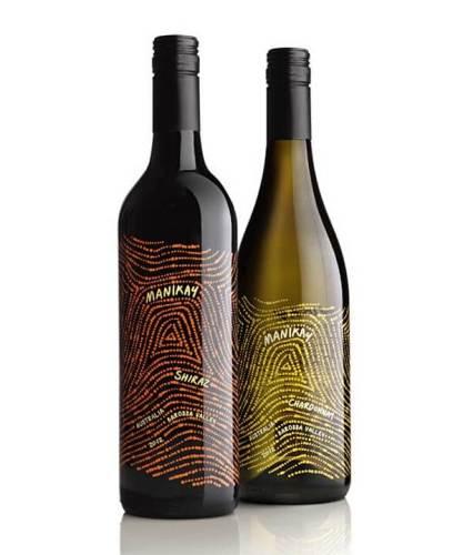 Manikay creative wine label design