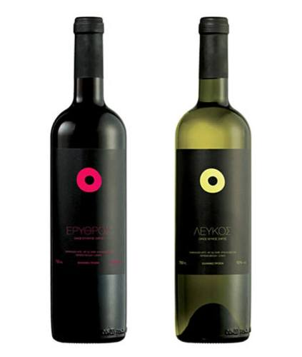 Eyes creative wine label design