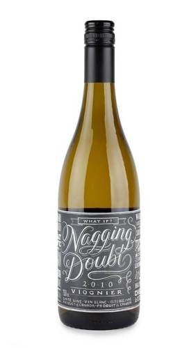 Nagging Doubt creative wine label