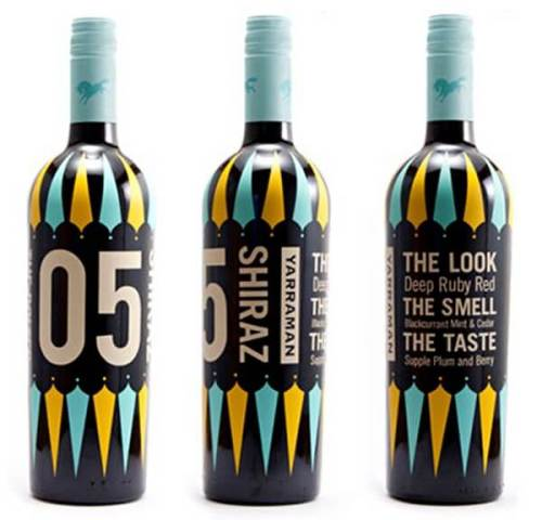 Yarraman Estate's Barn Buster wine creative wine labels
