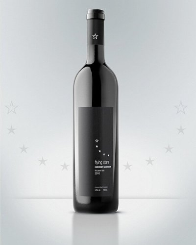 Flying Stars creative wine labels