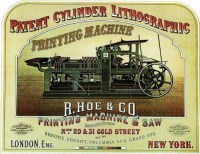 Rotary chromolithographic press