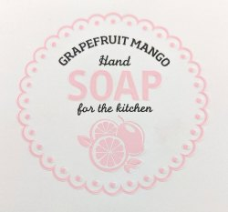 Hand soap label