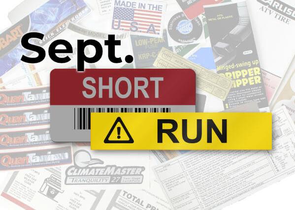 September Short Run Stories
