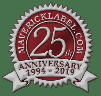 MaverickLabel 25th anniversary seal