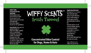 WIffy Scents Irish Tweed label