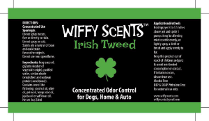 WIffy Scents Irish Tweed label