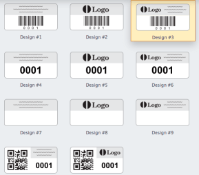 possible design layouts for standard asset tags