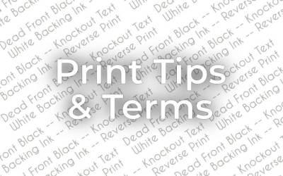 Print Tips & Terms