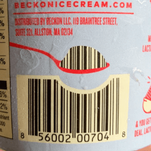 spoon scoops out part of the barcode