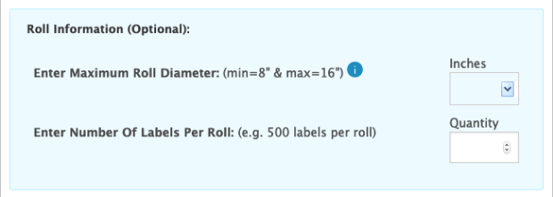 roll dimension questions