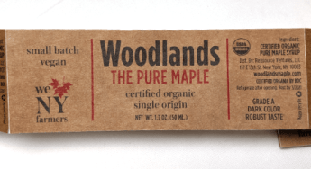 Next level: Texture - Woodlands syrup label