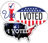 preprinted I Voted stickers