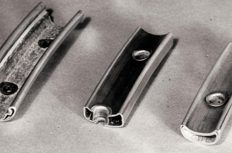 1934年当時、軽量さを誇ったジュラルミン製リム。