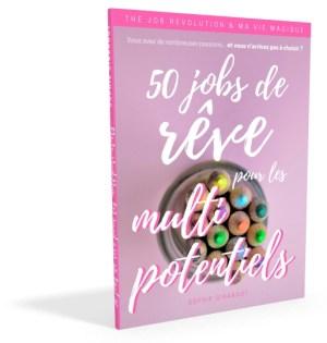 Couverture 50 Jobs de Rêve pour les Multipotentiels