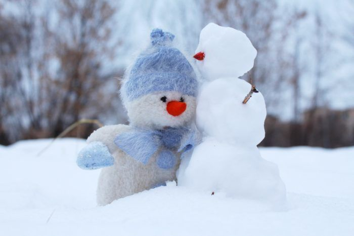 muñeco de nieve en invierno