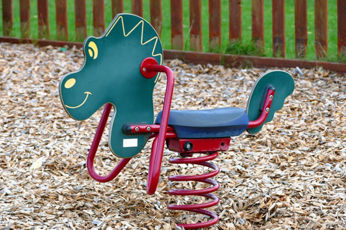 Parque para ilustrar qué juguetes llevar al parque al