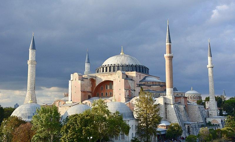 El Imperio Otomano hasta la conquista de Constantinopla con vista de Santa Sofía convertida en mezquita