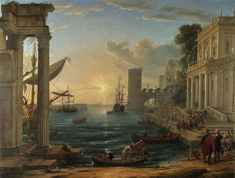 Pintura barroca francesa, paisaje de Claude Lorrain