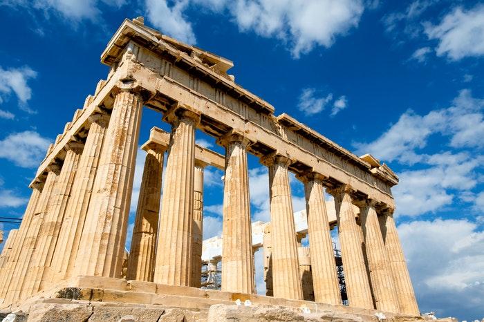 Partenón como símbolo de la polis griega.