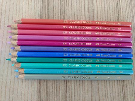 Colorear con lápices de madera- colores pastel