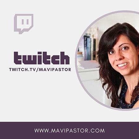 Canal de Twitch de Mavi Pastor