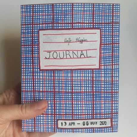Journal held in hand