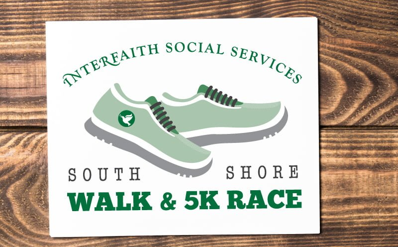 Logo Designed by MavroCreative for Interfaith Social Services' South Shore Walk and 5K