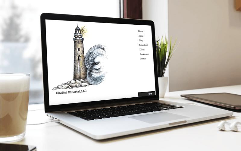 Claritas Editoral website design