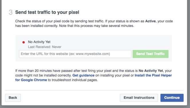 FB Pixel Test URL