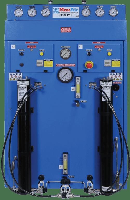 Max-Air 180 Twin E3 5000 or 6000 PSI Air Compressor System