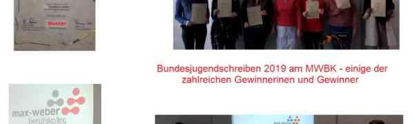 Bundesjugendschreiben -  Auch in diesem Jahr erzielten die Schülerinnen und Schüler des MWBK wieder hervorragende Ergebnisse!