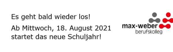 Schulstart am Mittwoch, 18. August 2021 - Informationen für Schüler/innen und Ausbilder/innen