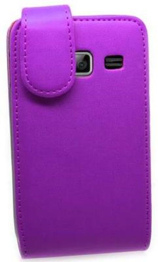 Flip Cover for Samsung Galaxy Y Duos S6102 - Purple ...