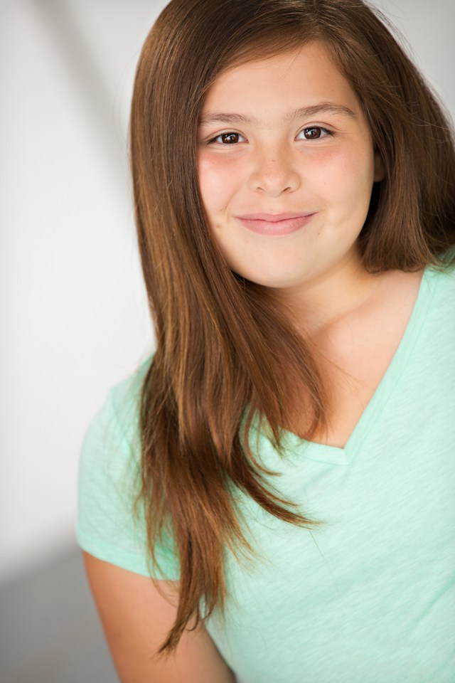 headshots for kids - girls hair and makeup