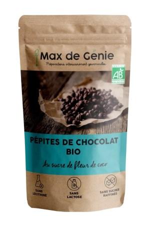 Packaging pépites de chocolat bio au sucre de fleur de coco