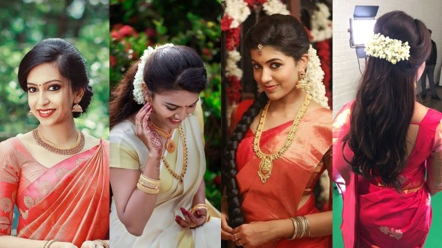 best hairstyles that match well with sarees - maxdio