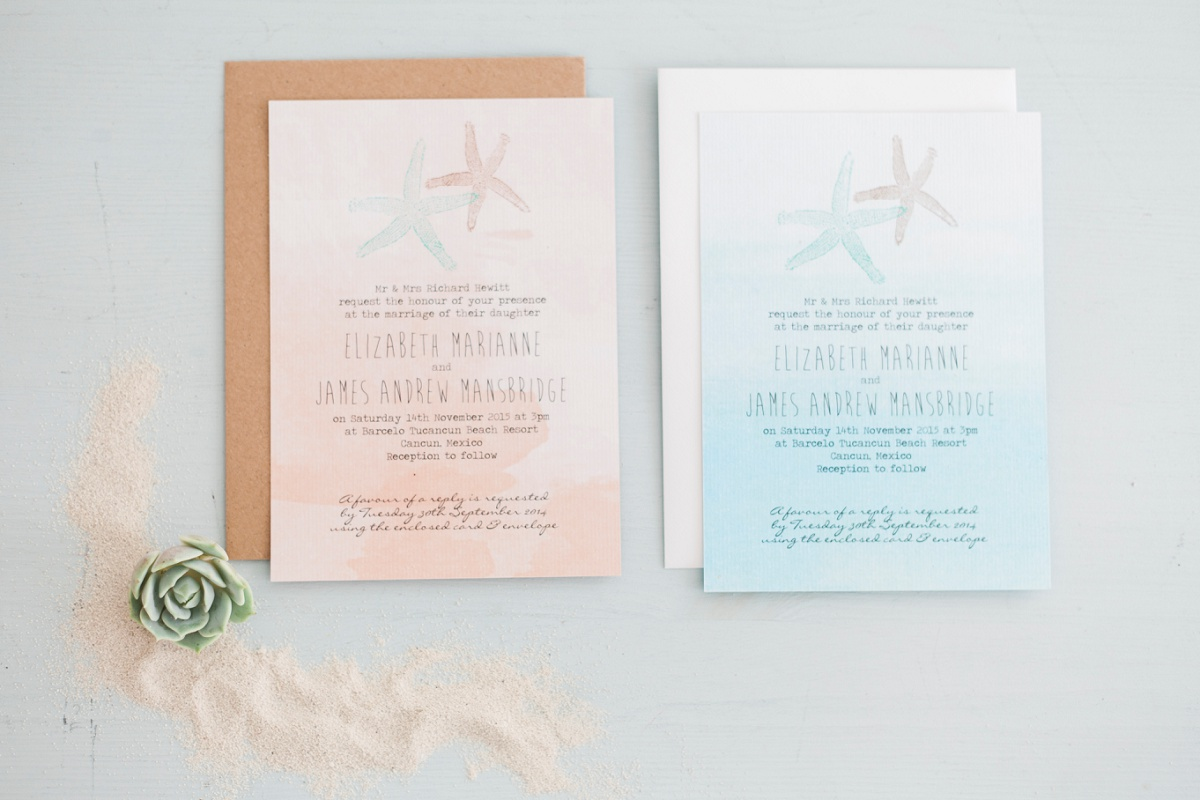 Ocean Themed Wedding Stationery Inspiration by Maxeen Kim Photography, Luxury Photographer in Greece and the UK