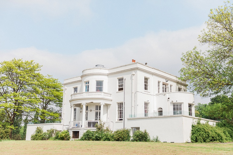 Beautiful Exterior of Belair House Wedding Venue in London