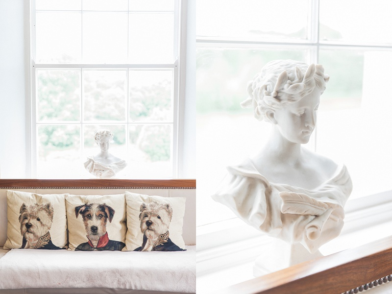 Woman's Bust And Cushions At Belair House