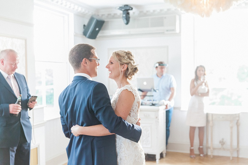 Happy Couple During Their Light And Airy First Dance