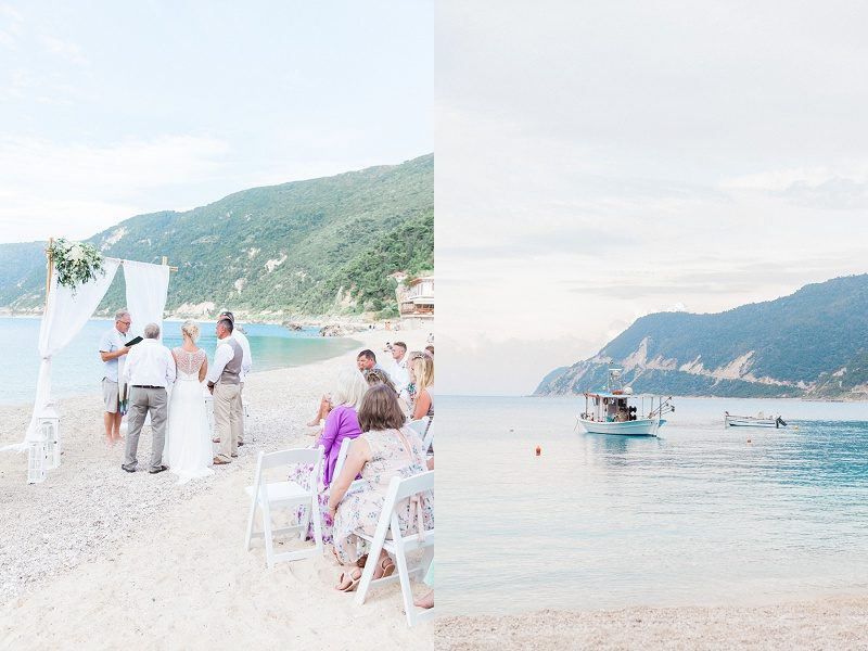 Pastel Beach Wedding on Agios Nikitas Beach Lefkada