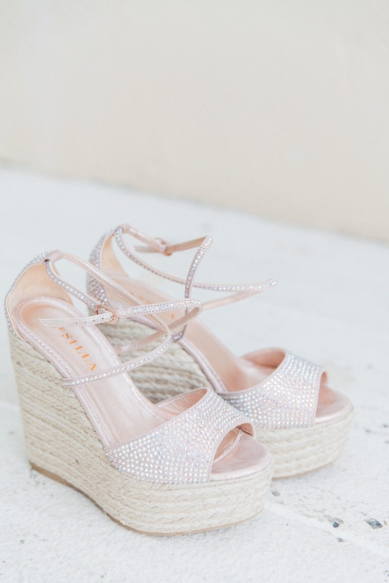 Brides Blush and Sparkled Le Silla Platforms