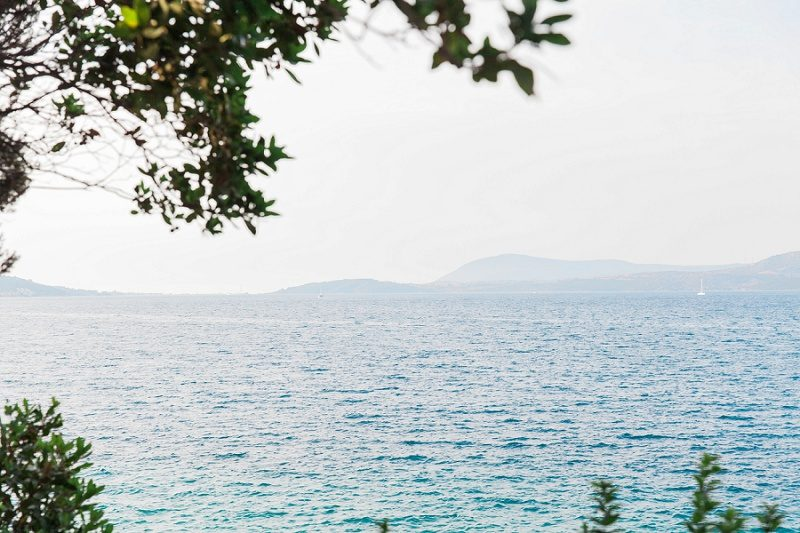 View of the Sea Through the Leaves at Ionian Blue Hotel