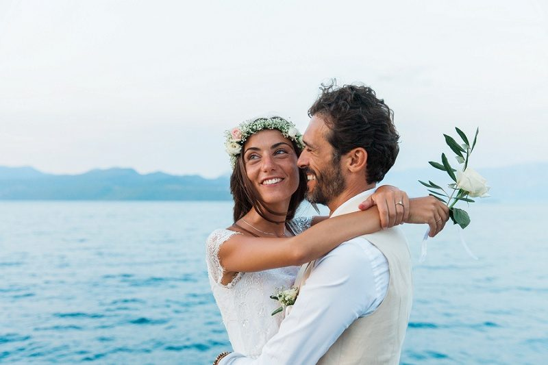 Happy Couple On the Jetty at Ionian Blue Hotel