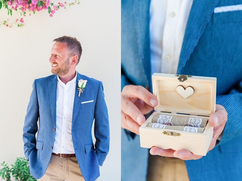 Groom Portrait and Rings