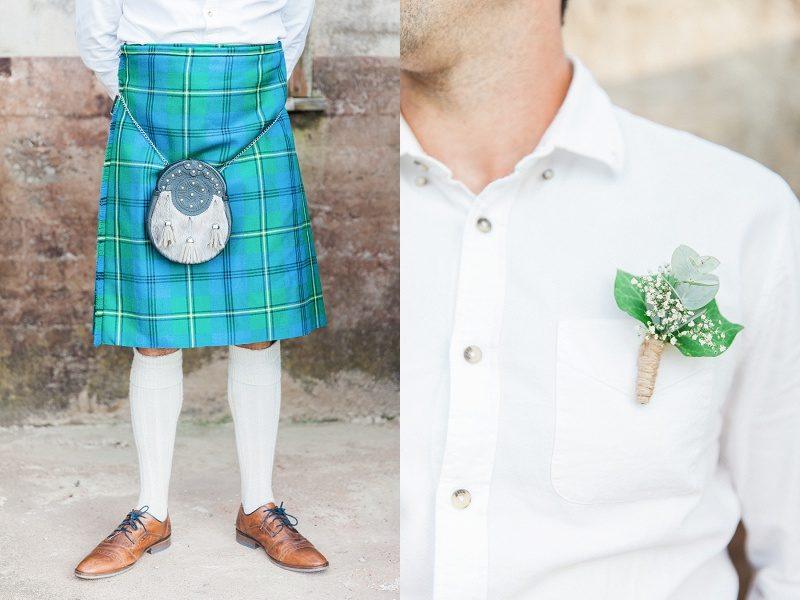 Grooms Details: Kilt and Buttonhole