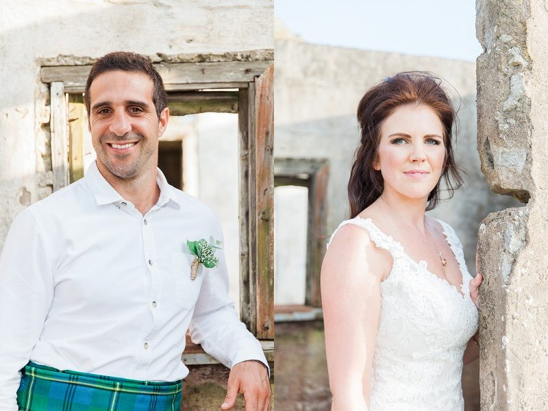 Portrait of Groom and Bride at Lake Eland Game Reserve