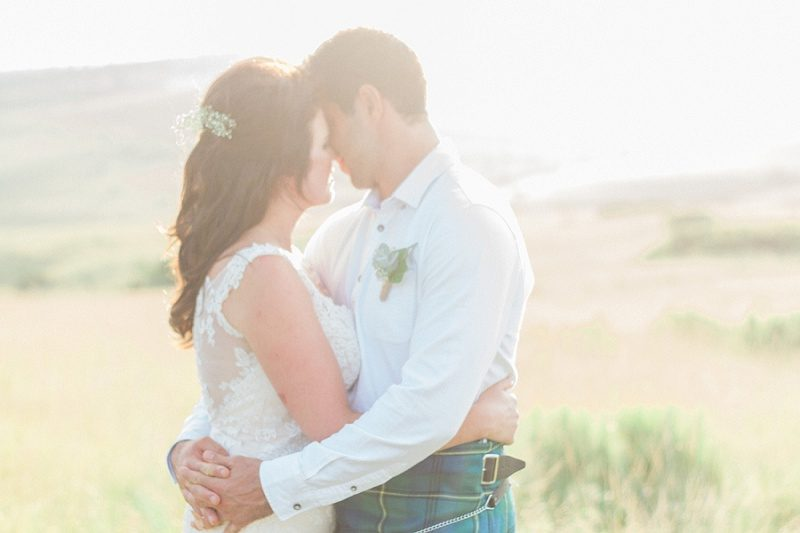 Light and Hazy Portrait of Bride and Groom