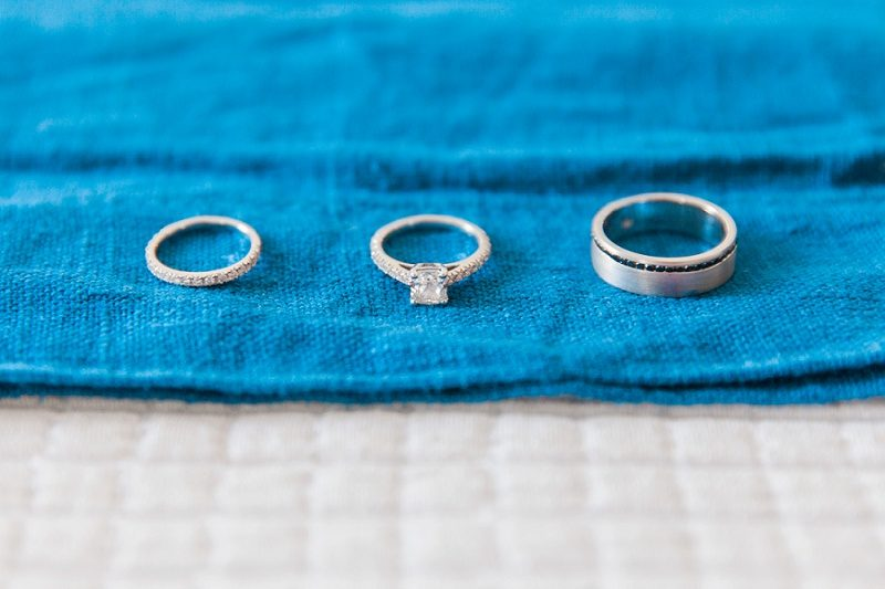 Wedding Bands in the Mystical Blue Bridal Suite in Santorini
